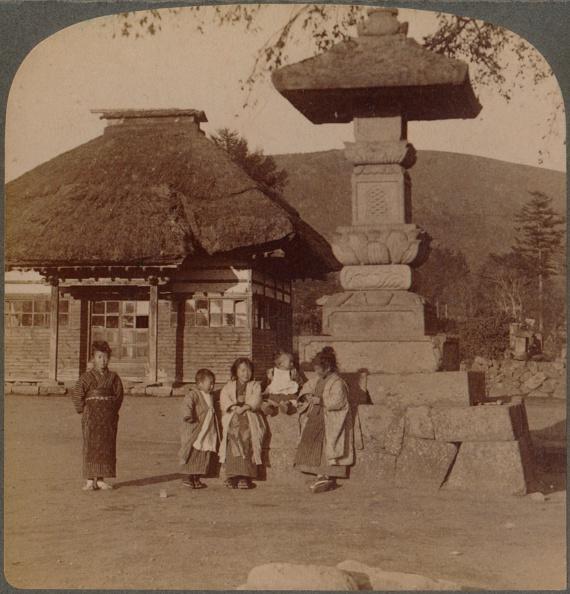 歴史「Children In Front Of Village Schoolhouse, Karuizawa, Japan', 1904.」:写真・画像(5)[壁紙.com]