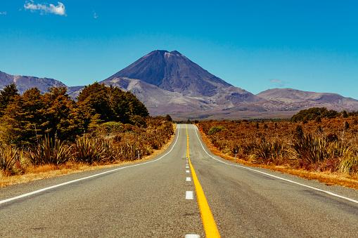 Volcanic Landscape「Mount Ngauruhoe New Zealand」:スマホ壁紙(1)