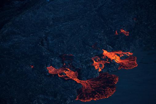 地質構造「Bárdarbunga火山の噴火によって形作られ、アイスランドます。」:スマホ壁紙(5)