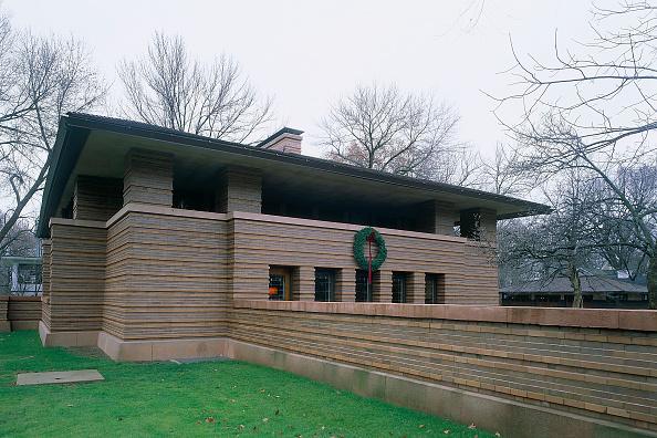 Brick Wall「Building designed by Frank Lloyd Wright. Chicago, USA.」:写真・画像(3)[壁紙.com]
