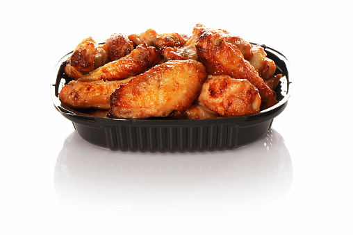 Chicken Wing「Plastic container with take away chicken wings」:スマホ壁紙(2)