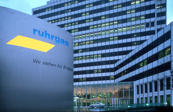 Entrance「Headquarters of Ruhrgas AG in Essen (energy), Germany」:写真・画像(11)[壁紙.com]