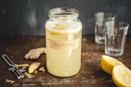 Ginger - Spice「Switchel, homemade drink with ginger, apple vinegar, honey and lemon」:スマホ壁紙(13)