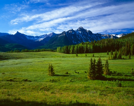 """Uncompahgre National Forest「""""Mountain meadows, Mount Sneffels, Uncompaghre National Forest""""」:スマホ壁紙(16)"""