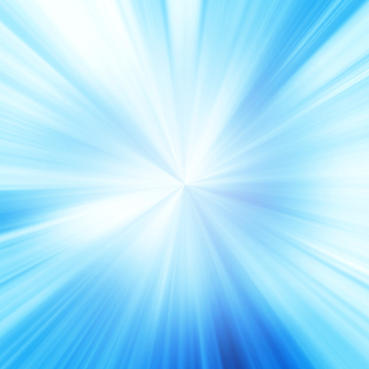縞模様「スターバーストブルーの光ビームの抽象的な背景」:スマホ壁紙(9)