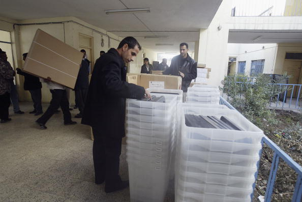 Baghdad「Final Preparations Are Made For The Iraqi Elections」:写真・画像(1)[壁紙.com]