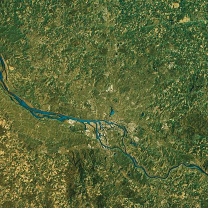 Clip Art「Hamburg Topographic Map Natural Color Top View」:スマホ壁紙(13)