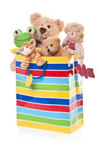 Doll「Birthday Gift Bag with Teddy Bear and Toys」:スマホ壁紙(1)
