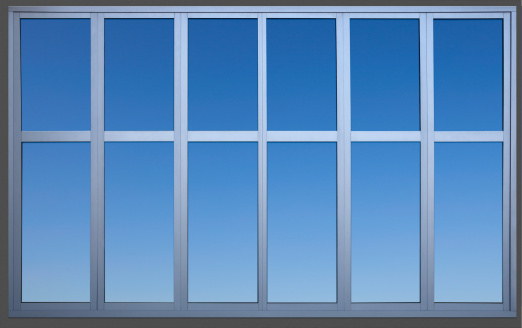 Window Frame「Isolated Metal Framed Paneled Office Window with Clipping Path」:スマホ壁紙(12)