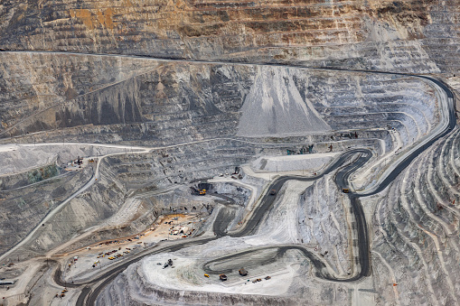Construction Vehicle「Open Pit Copper Mine, Salt Lake City , Utah, USA」:スマホ壁紙(5)