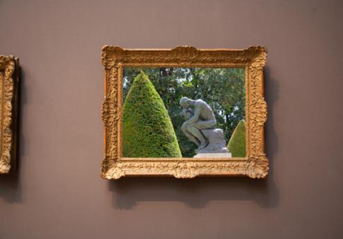 "Masterpiece「framed photograph of ""thinker""」:スマホ壁紙(17)"