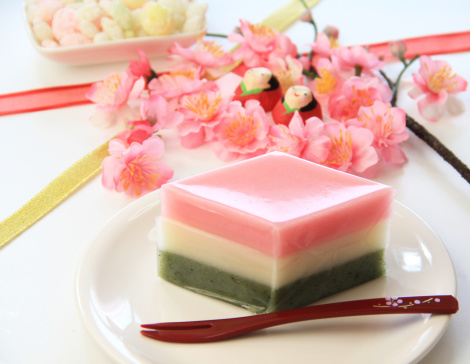 ひな祭り「Hishi-mochi (Lozenge-shaped rice cake)」:スマホ壁紙(1)