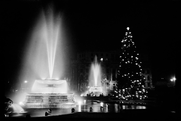 Gratitude「Fountains And The Christmas Tree In Trafalgar Square」:写真・画像(9)[壁紙.com]