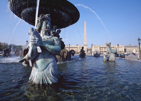 1990-1999「Fountains and Pool at Place de la Concorde」:スマホ壁紙(8)