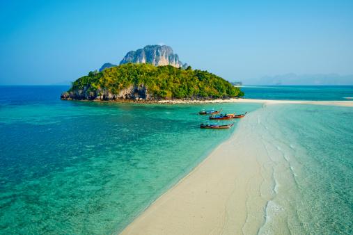 Turquoise Colored「Thailand, Krabi province, Ko Tub island」:スマホ壁紙(11)