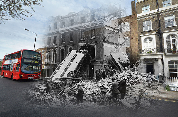 Composite Image「Scenes From The London Blitz - Now and Then」:写真・画像(16)[壁紙.com]