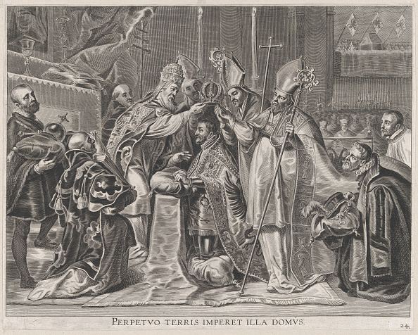 Sphere「Plate 24: Charles V Crowned Emperor By The Pope; From Guillielmus Becanuss Serenissimi P...,」:写真・画像(13)[壁紙.com]