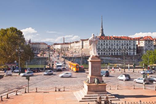 Piedmont - Italy「Piazza Vittorio Veneto from Gran Madre Di Dio.」:スマホ壁紙(9)