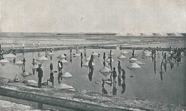 'Salt-Making in Rajputana', c1900, (1910):ニュース(壁紙.com)