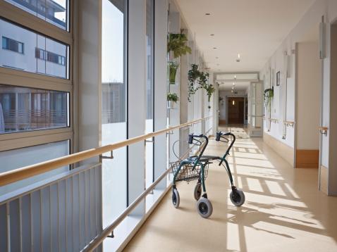 Cologne「Germany, Cologne, Walking frame in corridor of nursing home」:スマホ壁紙(19)