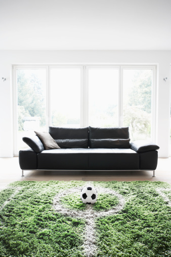 Hobbies「Germany, Cologne, Football field in living room」:スマホ壁紙(8)
