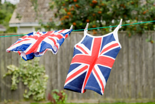 Tank Top「British flag boxer shorts and tank top hanging on clothesline」:スマホ壁紙(13)