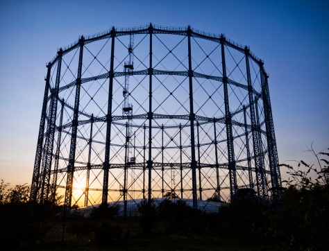 Storage Compartment「Gasometer At Sunset」:スマホ壁紙(1)