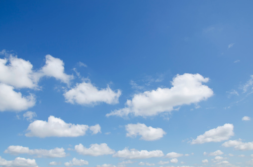 雲「Cumulus clouds」:スマホ壁紙(7)