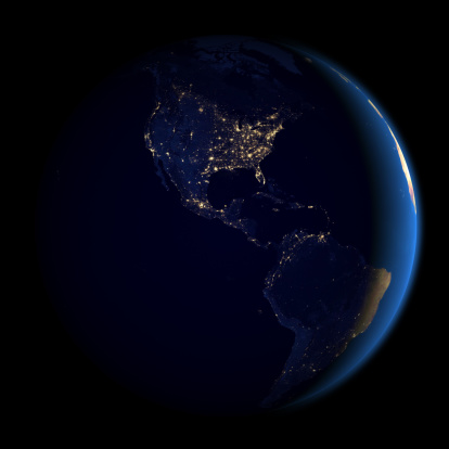 Central America「Night in Americas from space」:スマホ壁紙(14)