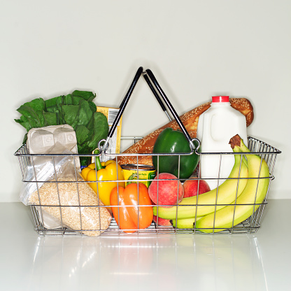 Shopping Basket「Wire basket full of groceries」:スマホ壁紙(14)