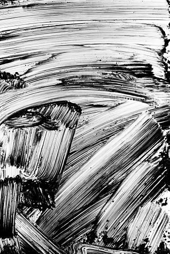 Brush Stroke「Grunge black paint brush stroke background」:スマホ壁紙(11)