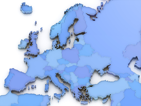 European Union「Blue map of Europe showing countries」:スマホ壁紙(6)