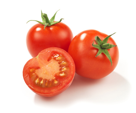 Tomato「Two whole red ripe tomatoes and one in half」:スマホ壁紙(5)
