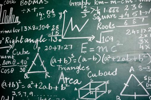 Chalk - Art Equipment「Mathematics Problems on a Greenboard」:スマホ壁紙(5)