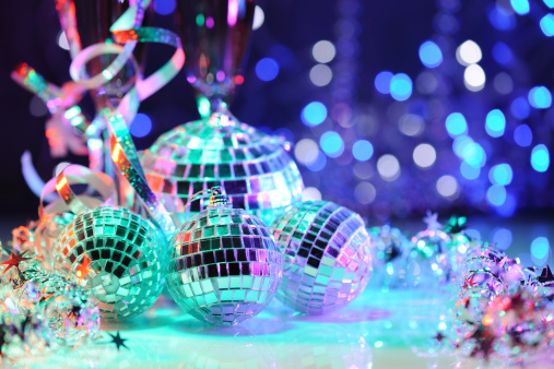Frame - Border「Party decoration with disco balls」:スマホ壁紙(5)