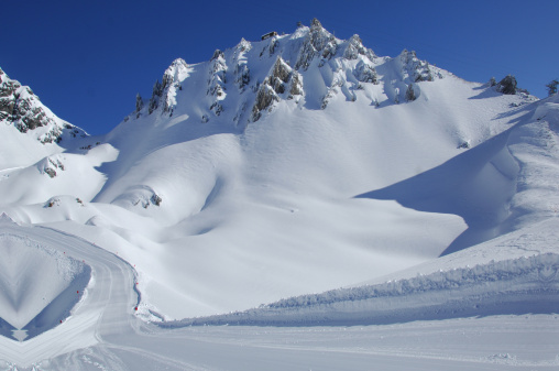 St Anton am Arlberg「Ski-slope under Rockpeaks」:スマホ壁紙(16)