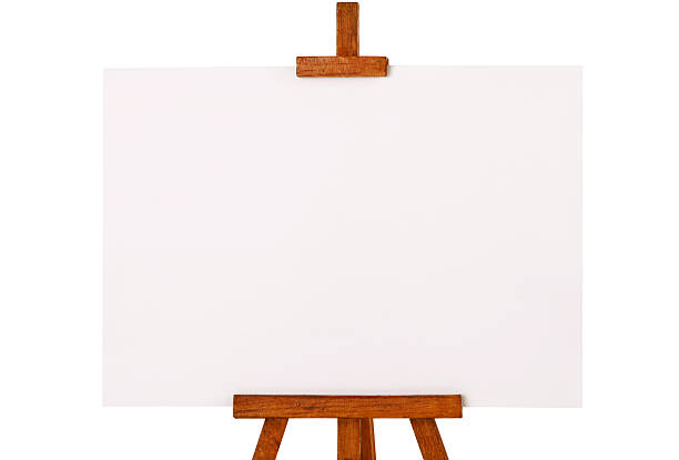 Easel with blank canvas:スマホ壁紙(壁紙.com)