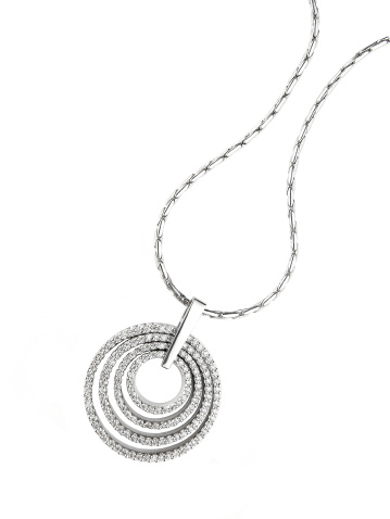 Stone - Object「Circular diamond pendant necklace isolated on white」:スマホ壁紙(11)