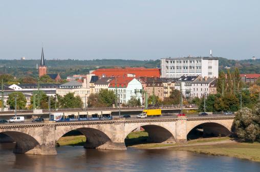 Arch Bridge「Arched Bridge Over Elbe River Dresden Germany」:スマホ壁紙(14)