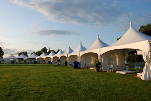 Entertainment Tent「Entertainment tent at sunset.」:スマホ壁紙(1)