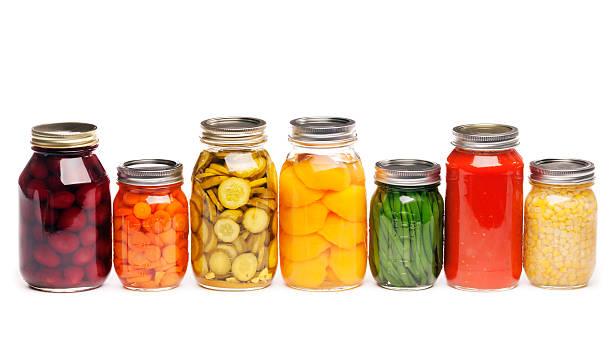 Canning Jars of Canned, Pickled Vegetable Food Preserved for Storage:スマホ壁紙(壁紙.com)