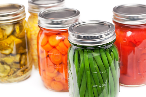Bush Bean「Canning Jars Containing Homegrown Vegetables for Preserved, Canned Food Storage」:スマホ壁紙(11)