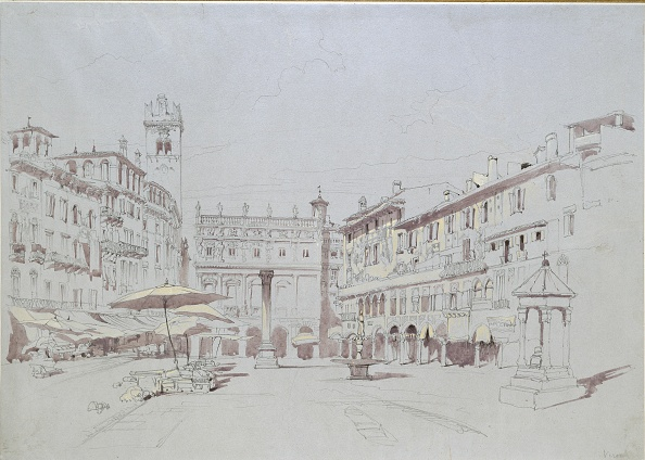 Market Stall「Study For Detail Of The Piazza Delle Erbe」:写真・画像(17)[壁紙.com]