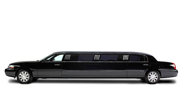 Stretch Limousine isolated on white:スマホ壁紙(壁紙.com)