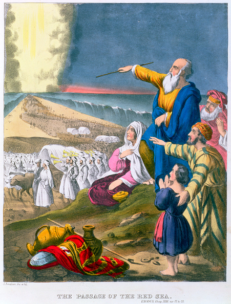 Dividing「Moses Parting The Red Sea 1870s」:写真・画像(8)[壁紙.com]