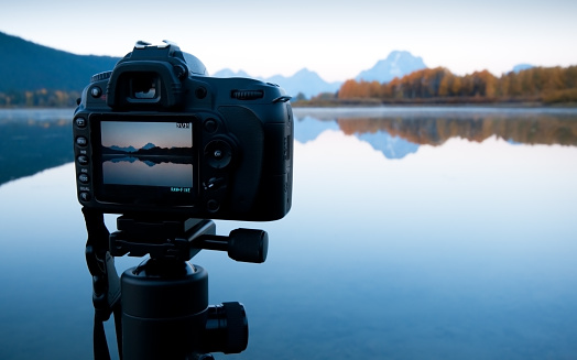 Lens - Eye「Sunrise Image in LCD - Oxbow Bend, GTNP」:スマホ壁紙(14)