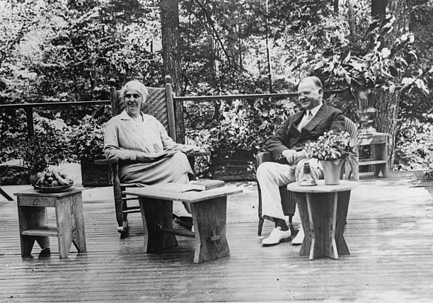 President Herbert Hoover And His Wife:ニュース(壁紙.com)