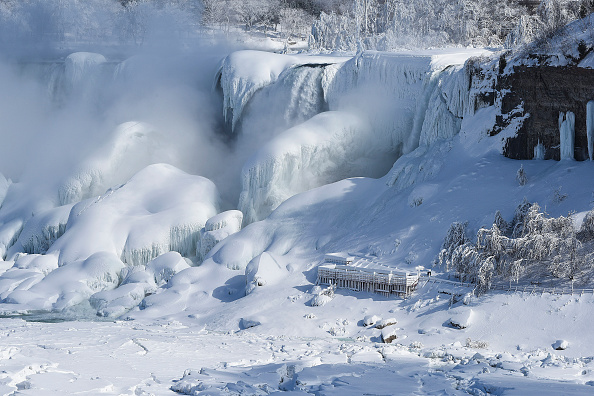 Frozen「Extreme Cold Freezes Parts Of Niagara Falls」:写真・画像(12)[壁紙.com]