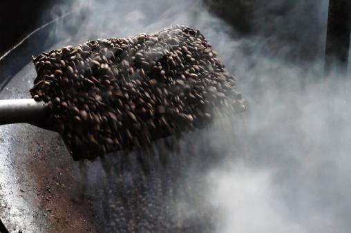 蒸気「焙煎コーヒー豆」:スマホ壁紙(8)