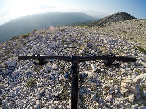 Unrecognizable Person「Mountain bike handlebars」:スマホ壁紙(0)
